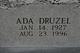 Profile photo:  Ada <I>Druzel</I> Bullock