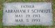 Profile photo:  Abraham F. Schmidt