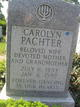 Carolyn <I>English</I> Pachter