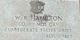 Pvt W. R. Hamilton