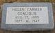 Profile photo:  Helen Carmer Geauque