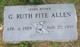 Geneva Ruth <I>Fite</I> Allen