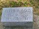 Hettie Ann <I>Pigott</I> Davis