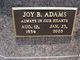 Profile photo:  Joy B. <I>Mowery</I> Adams