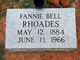 Profile photo:  Fannie Bell Rhoades
