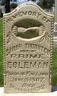 Sarah <I>Thornton</I> Coleman