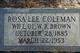 Profile photo:  Rosa Lee <I>Coleman</I> Brown