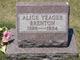 Profile photo:  Alice <I>Yeager</I> Brenton