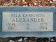 Ella Genevieve Alexander