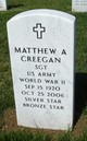 Profile photo: Sgt Matthew A. Creegan