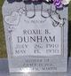 Roxie B <I>Ridner</I> Dunham
