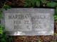 "Martha E ""Mattie"" <I>Abney</I> Beck"