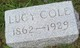 Profile photo:  Lucy Margaret <I>Campbell</I> Cole