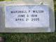 Marshall F Wilson
