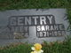 Sarah Elizabeth <I>Spangler</I> Gentry