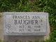 Profile photo:  Francis Ann Baugher
