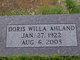 Profile photo:  Doris Willa Ahland