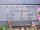 Geraldine Brown Anderson