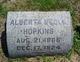 Profile photo:  Alberta <I>Hopkins</I> Bedle