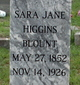 Sara Jane <I>Higgins</I> Blount