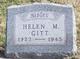 Profile photo:  Helen M. Gitt