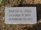 "Roberta E ""Bertie"" <I>Davis</I> Abel"