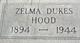Zelma <I>Dukes</I> Hood