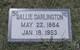 Sallie Appleton <I>Barker</I> Darlington