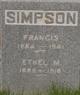 Profile photo:  Ethel Margaret <I>Purvis</I> Simpson
