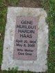 Gene Hurlbut <I>Hardin</I> Haas