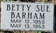 Profile photo:  Betty Sue Barham