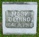 Mary <I>Johnson</I> Deming