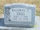 """Baldwin Carl """"Bally"""" Sigg"""