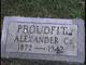 Profile photo:  Alexander C. Proudfit