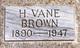 Harold Vane Brown