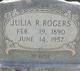 Julia M. <I>Robinson</I> Rogers