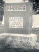 """Sarah Jane """"Jennie"""" <I>Tharp</I> Rhodes"""
