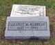 "Profile photo:  Elizabeth Mae ""Lizzie"" Allbright"