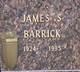 Profile photo:  James S Barrick