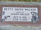 "Elizabeth ""Betty"" <I>Smith</I> Walker"