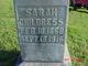 """Sarah Jane """"Sallie"""" <I>Shankle</I> Childress"""