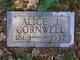 Profile photo:  Alice Jane <I>Petty</I> Cornwell