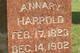 Annary B <I>Tarvin</I> Harpold