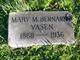 """Mary Magdalena """"Lena"""" <I>Bernards</I> Vasen"""