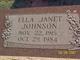 Ella Janet Johnson