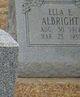 Profile photo:  Ella E. Albright