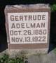 Profile photo:  Gertrude <I>Johann</I> Adelman