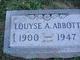 Profile photo:  Louyse A Abbott
