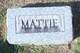 Mattie W Beall