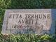 Etta Purdy <I>Terhune</I> Avritt